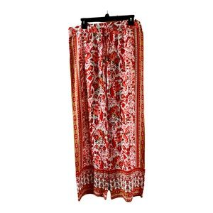 Like new Hester & Orchard print wide leg pant
